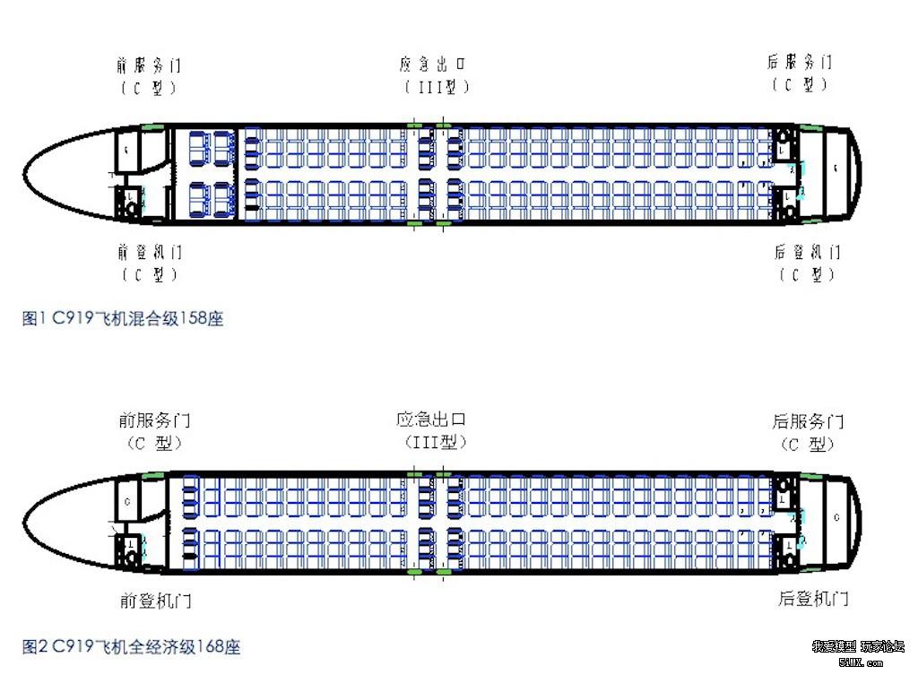 C919的座位布局(图片来自:中国商飞官网) C919 编号中的三位数字都跟大相关,第一位 9 寓意天长地久,但更因为 9 是个位数中最大的数字,后两位 19 代表该型号飞机最大可容纳 190 个座位,C919 的主研单位中国商用飞机有限责任公司(以下简称中国商飞)曾表示,C919 的后续机型可能为 C929,具备更大的载客能力。