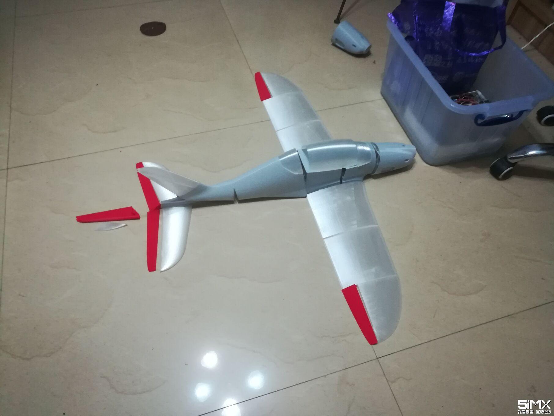 3D打印鲨鱼固定翼飞机 回复邮箱给发整套软件及STL文件