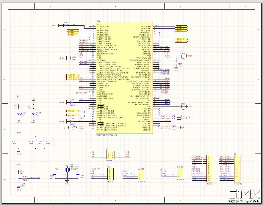 FOC电调原理图1