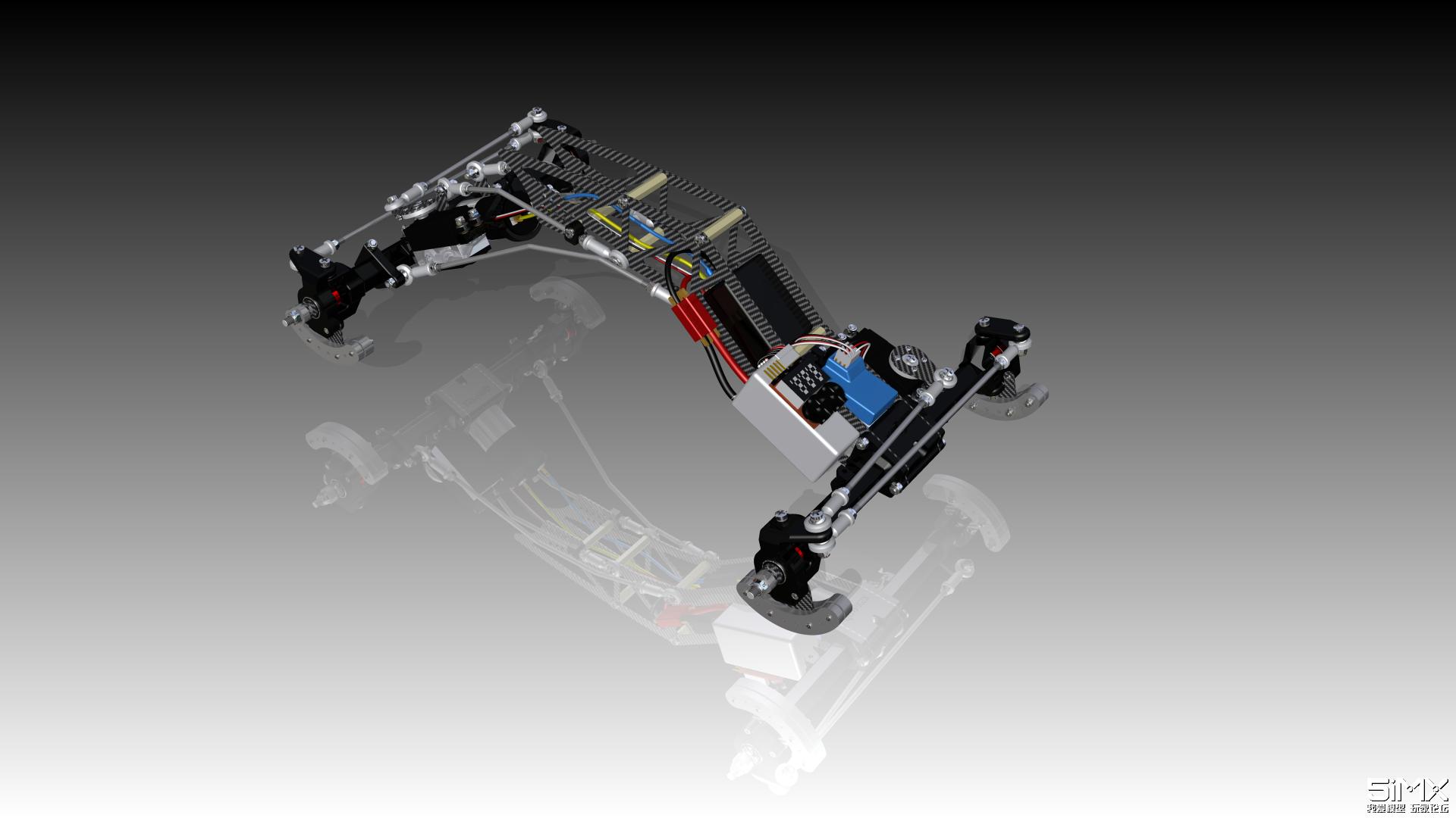 3D打印遥控攀爬