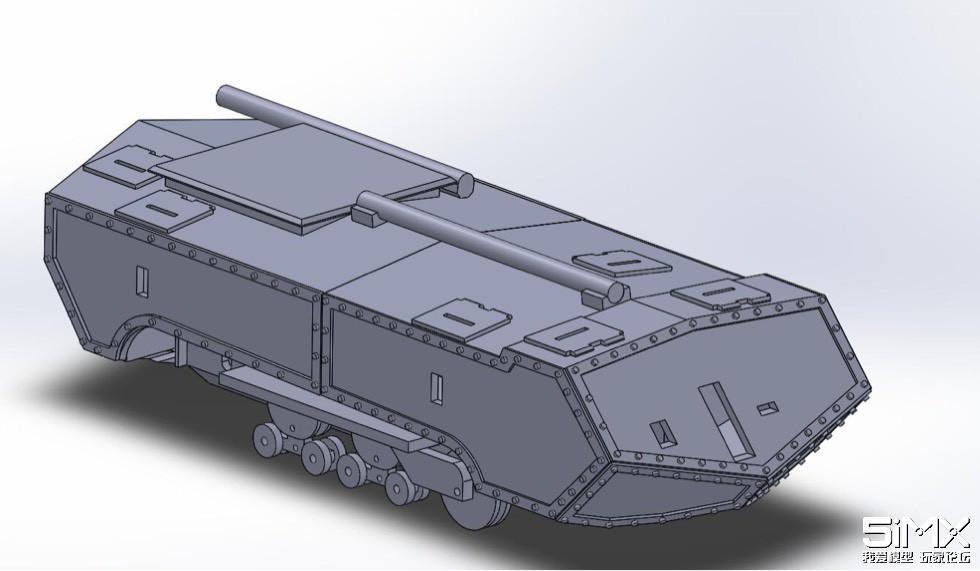 3D打印DIY早期坦克