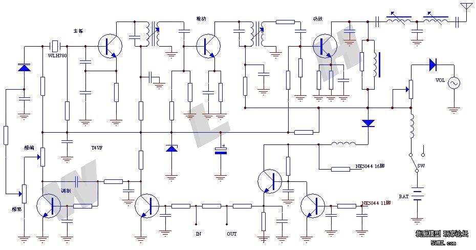 4vf发射机电路图